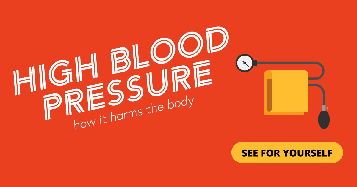 High blood pressure. How it harms the body. See for yourself.