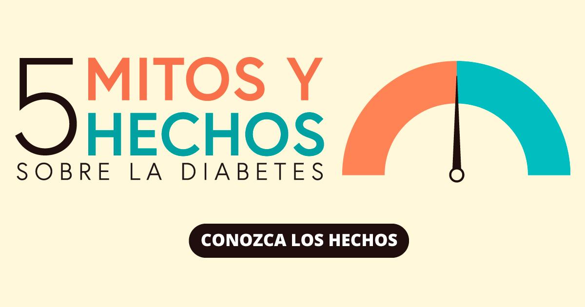 5 mitos y hechos sobre la diabetes. Conozca los hechos.