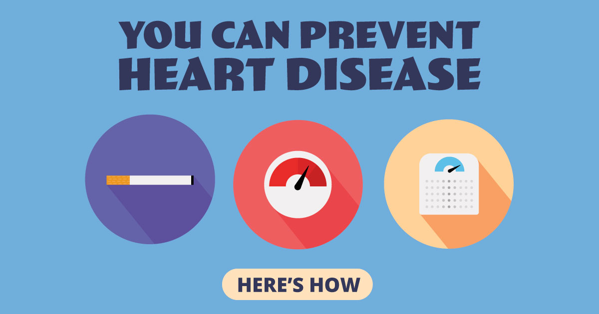 You can prevent heart disease. Here's how!