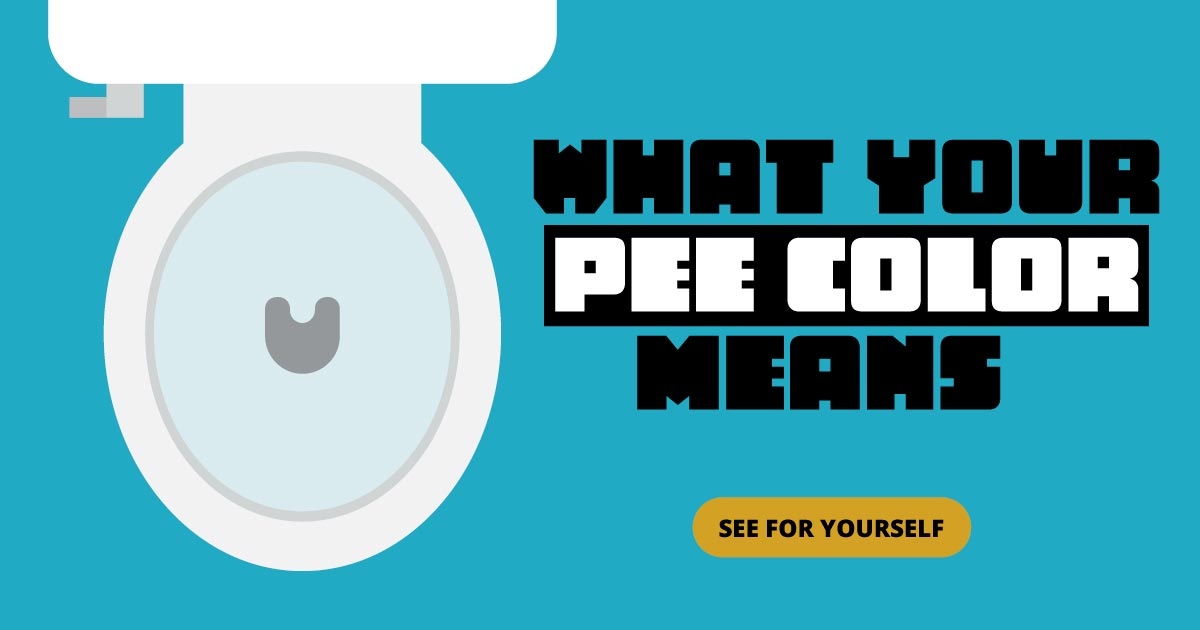 What your pee color means. See for yourself.