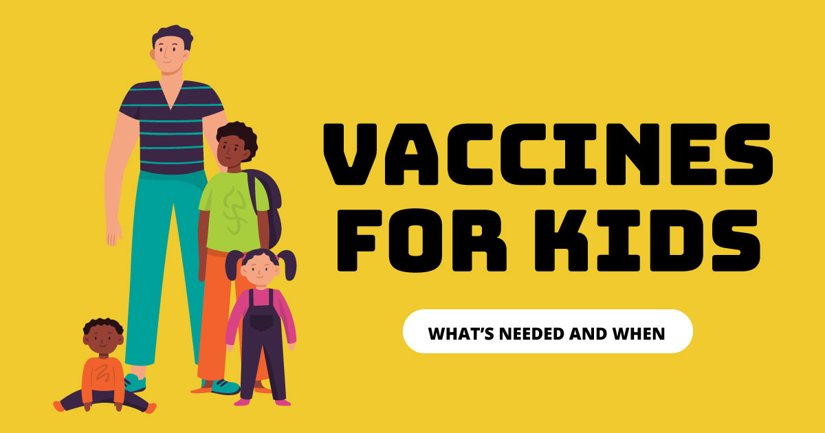 Vaccines for kids. What's needed and when.